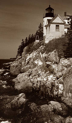 Bass Harbor Head Lighthouse Poster by Skip Willits