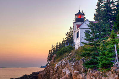 Bass Harbor Lighthouse Poster by At Lands End Photography