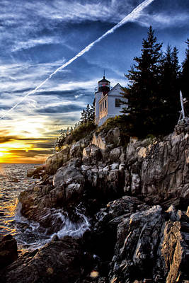 Bass Harbor Lighthouse Poster by Elizabeth Eldridge