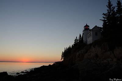Bass Harbor Lighthouse Poster by Gary Wightman