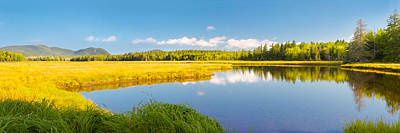 Bass Harbor Marsh Panorama Acadia National Park Photograph Poster by Keith Webber Jr