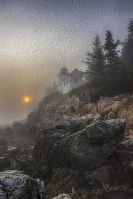 Bass Harbor Mist Poster