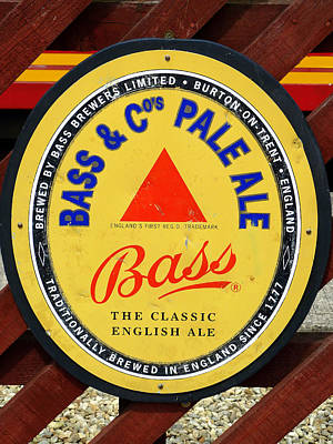 Bass Pale Ale Railway Sign Poster by Gordon James