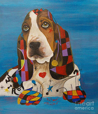 Basset-mirro  Poster by To-Tam Gerwe