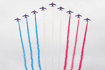 Bastille Day Air Show At The Champs-elysees Poster