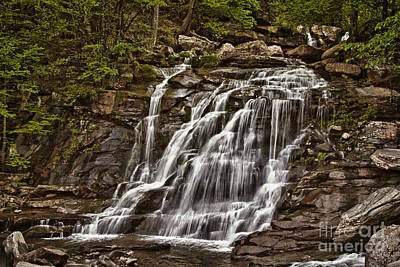 Poster featuring the photograph Bastion Falls - Catskills by Vicki DeVico
