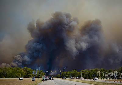 Bastrop Burning Car Explosion Poster