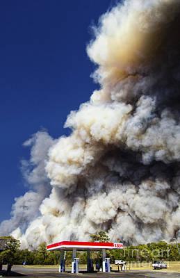 Bastrop Burning Exxon Poster