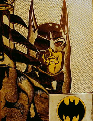 Poster featuring the mixed media Bat Man by Dan Wagner