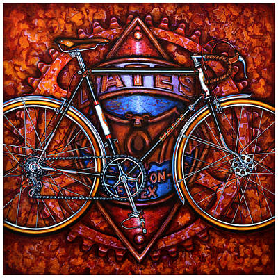 Poster featuring the painting Bates Bicycle by Mark Howard Jones