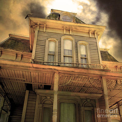 Bates Motel 5d28867 Square Sepia V1 Poster by Wingsdomain Art and Photography