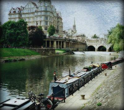 Bath Canal Poster by Marilyn Wilson