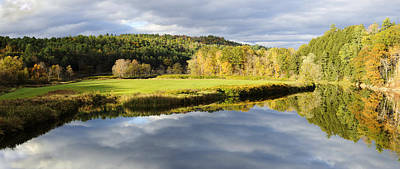 Bath Nh Autumn Panorama Poster by Luke Moore