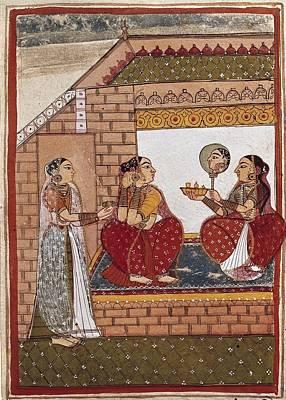 Bath Of An Indian Princess Poster by Everett