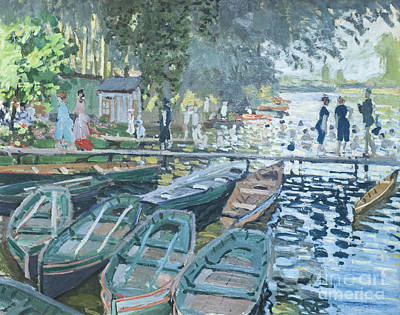 Bathers At La Grenouillere By Claude Monet Poster by Roberto Morgenthaler