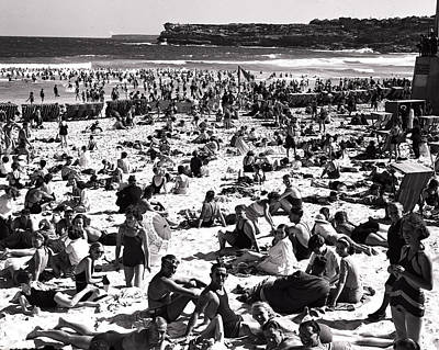 Bathing Beauties On Beach Bondi Poster by Retro Images Archive