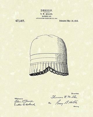 Bathing Cap 1915 Patent Art Poster