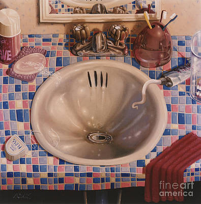 Bathroom Sink 1991  Skewed Perspective Series 1991 - 2000 Poster