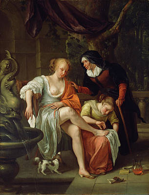 Bathsheba After The Bath Jan Steen, Dutch Poster by Litz Collection