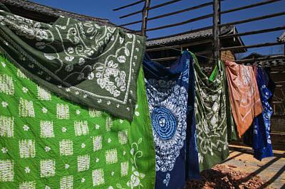 Batik Fabric Souvenirs At A Market Poster by Panoramic Images