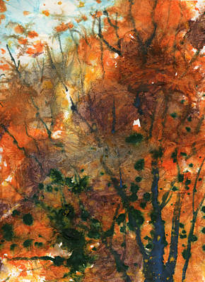 Batik Style/new England Fall-scape No.34 Poster