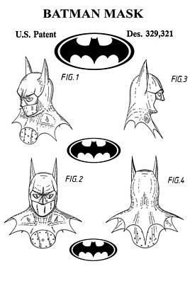 Batman Face Guard Poster by Dan Sproul