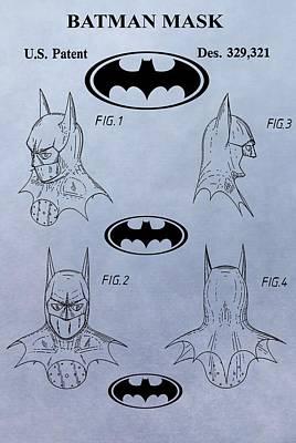 Batman Mask Patent Poster by Dan Sproul