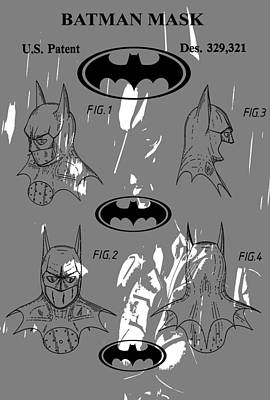 Batman Patent Poster Poster by Dan Sproul