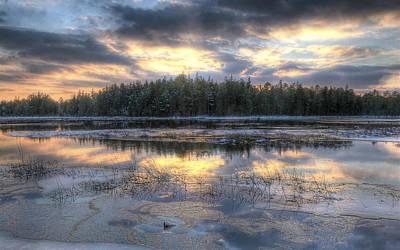 Batsto Lake Sunset1 Poster