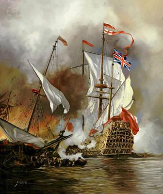 Battaglia Sul Mare Poster by Guido Borelli
