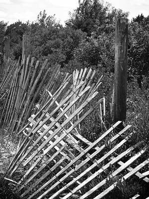 Battered Fence Poster by Colleen Kammerer