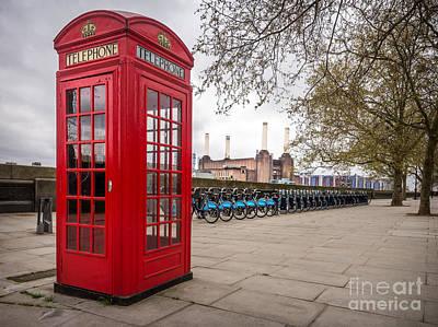 Battersea Phone Box Poster by Matt Malloy