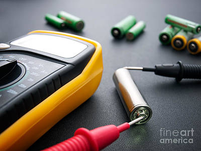 Battery Testing Poster by Sinisa Botas