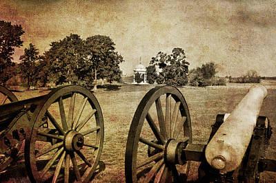 Battle Line At Antietam Poster