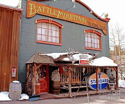 Poster featuring the photograph Battle Mountain Trading Post by Fiona Kennard