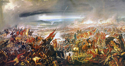 Battle Of Avay Poster by Pedro Americo