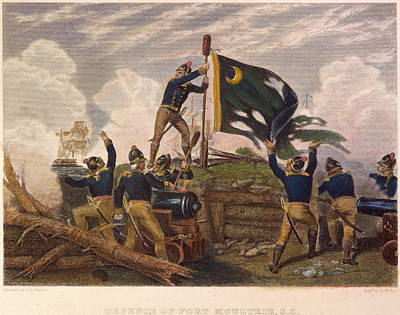 Battle Of Fort Moultrie Poster