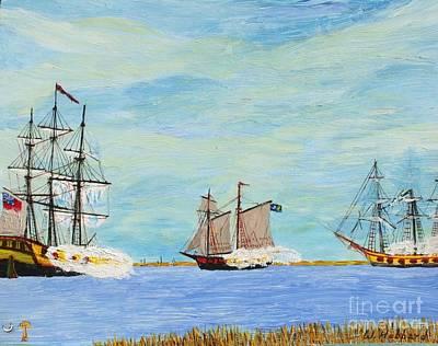Battle Of Hog Island Channel Poster by Bill Hubbard