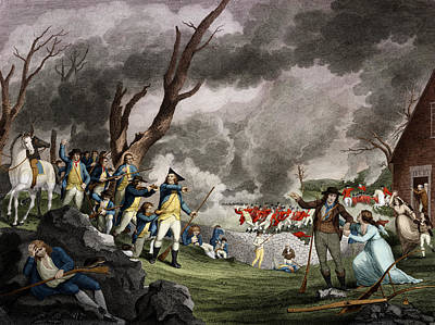 Battle Of Lexington, 1775 Poster by Science Source