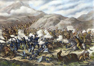 Battle Of Little Big Horn Poster by Granger