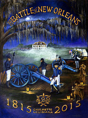 Battle Of New Orleans 200 Year Anniversary Poster by Elaine Hodges