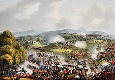 Battle Of Quatre Bras, June 16th 1815 Poster by William Heath
