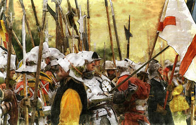 Battle Of Tewkesbury Poster by Ron Harpham