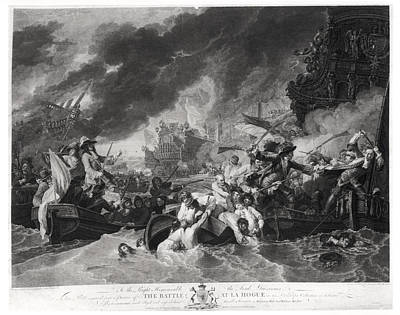 Battle Of The Hague, 29th May 1692, Engraved By William Woollett 1735-85 1781 Aquatint Bw Photo Poster by Benjamin West