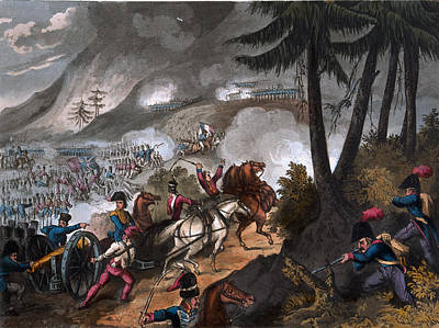 Battle Of The Pyrenees In 1813 Poster by William Heath