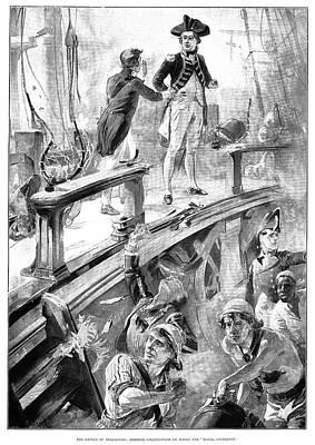 Battle Of Trafalgar, 1896 Poster