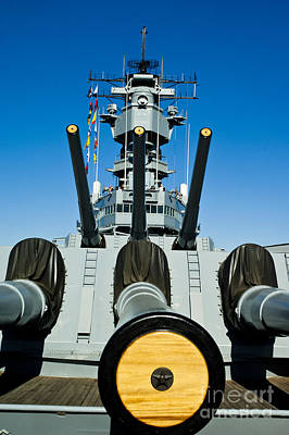 Battleship Uss Iowa 1 Poster by Micah May