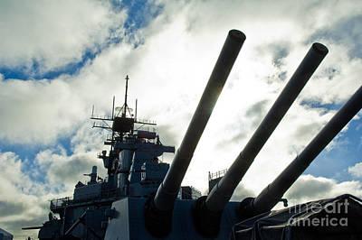 Battleship Uss Iowa 2 Poster by Micah May