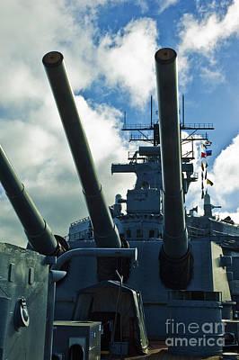 Battleship Uss Iowa 3 Poster by Micah May