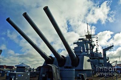 Battleship Uss Iowa 5 Poster by Micah May